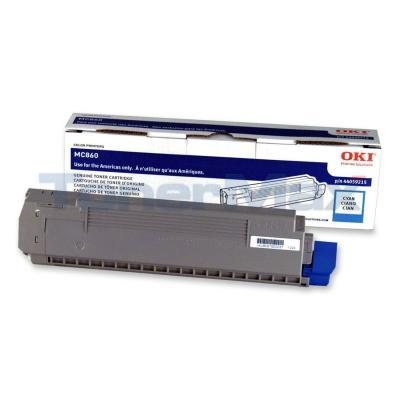 OKIDATA MC860 TONER CARTRIDGE CYAN